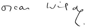 Firma de Oscar Wilde