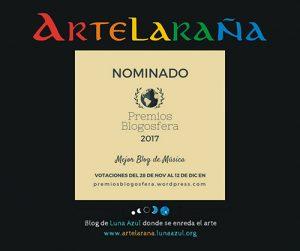 Artelaraña, nominado a Mejor Blog de Música en Premios Blogosfera 2017