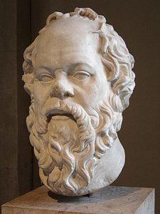Escultura de Sócrates, obra de arte romano del siglo I dC, del Louvre